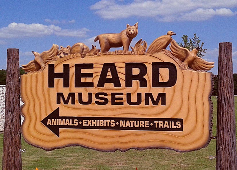 Signage at the entrance of Heard Museum