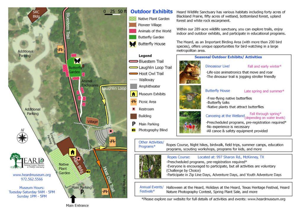 Heard Outdoor Exhibits Map